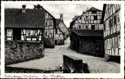 Postcard Ortenberg im Wetteraukreis Hessen, Fachwerkhäuser am Mühltor