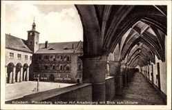 Postcard Kulmbach im Kreis Kulmbach Oberfranken, Plassenburg, Arkadengang