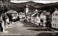 Postcard Lam im Bayerischen Wald Oberpfalz, Marktplatz mit gr. Arber