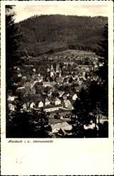 Postcard Haslach im Kinzigtal Ortenaukreis Baden Württemberg, Totale vom Ort