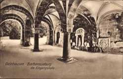 Postcard Gelnhausen im Main Kinzig Kreis Hessen, Barbarossaburg, Eingangshalle