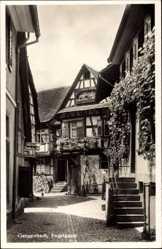 Postcard Gengenbach an der Kinzig Ortenaukreis, Blick in die Engelgasse, Fachwerkhaus