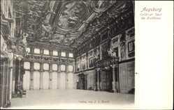 Postcard Augsburg in Schwaben, Goldener Saal im Ratshaus, Innenansicht