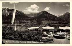 Postcard Oberstdorf im schwäbischen Kreis Oberallgäu, Terrasse Alpenhotel, Panorama