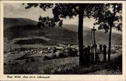 Postcard Lam im Bayerischen Wald Oberpfalz, Blick auf den Ort mit dem Schwarzeck