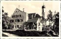 Postcard Schongau in Oberbayern, Motiv an der Heiligen Geist Kirche, Glockenturm