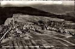 Postcard Dobel württ. Schwarzwald, Blick auf den Ort, Fliegeraufnahme