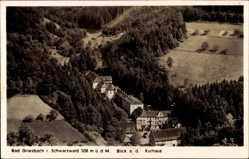 Postcard Bad Peterstal Griesbach Schwarzwald, Blick auf das Kurhaus, Wald
