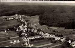 Postcard Simmersfeld Württ. Schwarzwald, Blick auf den Ort, Fliegeraufnahme