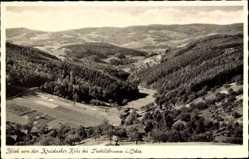 Postcard Siedelsbrunn Wald Michelbach im Odenwald Hessen, Blick von Kreidacher Höhe