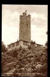 Postcard Bischofsgrün im Fichtelgebirge, Asenturm auf dem Ochsenkopf