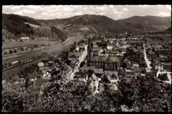 Postcard Hausach im Schwarzwald Ortenaukreis, Blick ins Kinzigtal