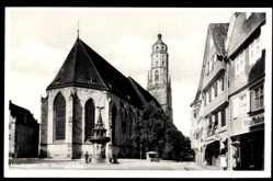Postcard Nördlingen im Nördlinger Ries Schwaben, St. Georgskirche, Geschäfte