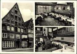 Postcard Lüneburg in Niedersachsen, Hotel zum Heidekrug, Arthur Wolf, Am Berge 5