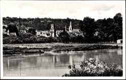 Postcard Obernburg am Main, Flusspartie mit Blick auf den Ort, Kirche, Turm