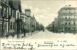 Postcard Geestemünde Bremerhaven Niedersachsen, Die Borriesstraße