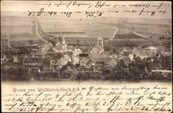 Postcard Wald Michelbach Odenwald, Totalansicht des Ortes