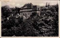 Ansichtskarte / Postkarte Coswig in Sachsen, Motiv am Schloß, bewaldete Hügel
