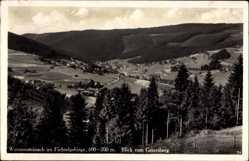 Postcard Warmensteinach Oberfranken Bayern, Fichtelgebirge, Blick vom Geiersberg