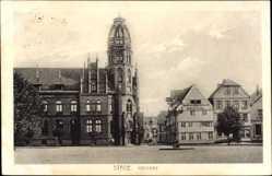 Postcard Stade in Niedersachsen, Bäckerei August Huey mit Postamt