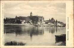 Ak Malbork Marienburg Westpreußen, Nogatseite, Stromauf