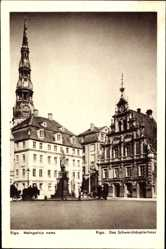 Postcard Riga Lettland, Melngalvju nams, Das Schwarzhäupterhaus