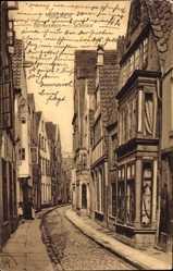 Postcard Hansestadt Bremen, Altstadt, Blick ins Schnoorviertel
