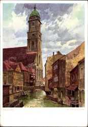 Künstler Ak Lüttgens, Amberg in der Oberpfalz Bayern, St. Martinskirche