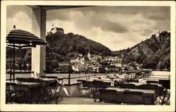 Postcard Riedenburg im Altmühltal, Blick von den Terrassen des Jura Hotel