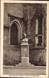 Ansichtskarte / Postkarte Lommatzsch Sachsen, Blick auf Robert Volkmann Denkmal