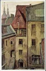 Künstler Ak Loeschmann, E., Wrocław Breslau Schlesien, Schroeter's Wohnung