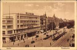 Ak Szczecin Stettin Pommern, Blick auf den Paradeplatz, UFA Palast, Kino