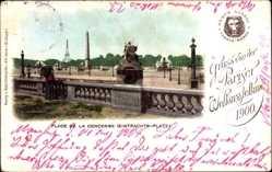 Cp Paris, Weltausstellung 1900, Place de la Concorde, Eintrachts Platz