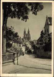 Ansichtskarte / Postkarte Meißen in Sachsen, Albrechtsburg, Westseite, Noßner Straße, Jahnasche Hof