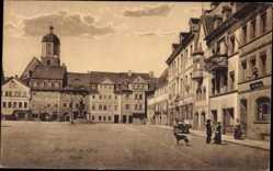Ansichtskarte / Postkarte Neustadt an der Orla, Ansicht vom Marktplatz, Gasthaus Thüringer Hof