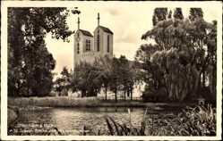 Postcard Offenbach am Main Hessen, St. Joseph Kirche und Friedrichsweiher