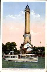 Ak Warszów Świnoujście Osternothafen Swinemünde Pommern, Leuchtturm