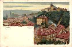 Künstler Litho Ströse, Praha Prag, Hradschin, Ostseite