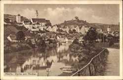 Postcard Horb am Neckar im Kreis Freudenstadt, Partie am Neckar mit Blick auf den Ort