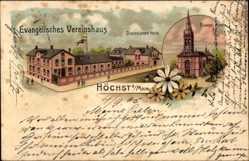 Litho Frankfurt Höchst am Main, Evangelisches Vereinshaus, Diakonissenheim