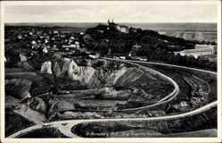 Ak Góra Świętej Anny Sankt Annaberg Oberschlesien, Fliegeraufnahme, Abbaugebiet