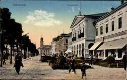 Postcard Debrecen Debrezin Ungarn, Varoshaza, Rathaus, Grünfläche