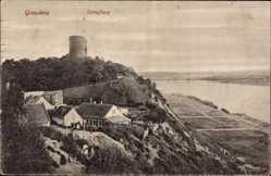 Ak Grudziądz Graudenz Westpreußen, Blick auf den Ort und den Schlossberg