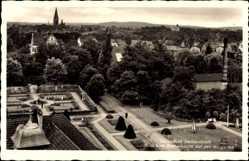 Ak Świnoujście Swinemünde Pommern, Blick vom Kurhausturm auf Kurgarten