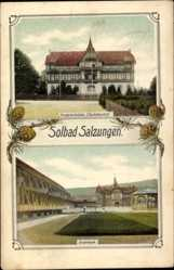 Postcard Bad Salzungen im Wartburgkreis, Kinderheilstätte Charlottenhall, Gradierwerk