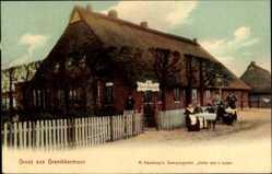 Postcard Grambkermoor Hansestadt Bremen, M. Haesloops Sommergarten, Unter den Linden
