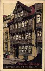 Steindruck Ak Hann. Münden in Niedersachsen, Das Pfarrhaus zu St. Blasii