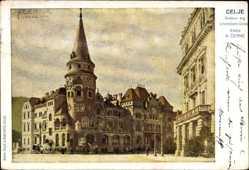 Künstler Ak Cerne, A., Celje Cilli Slowenien, Krekov trg s hotelom Union