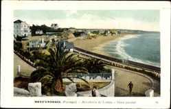 Postcard Mont'estoril Portugal, Arredores de Lisboa, Vista parcial, Strand, Meer