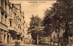 Postcard Bremerhaven Niedersachsen, Blick in die Lloydstraße